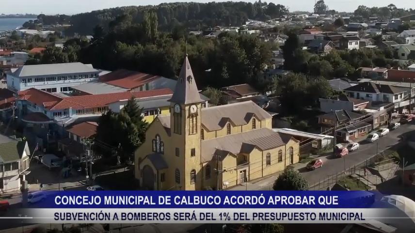CONSEJO MUNICIPAL DE CALBUCO ACORDÓ APROBAR QUE SUBVENCIÓN PARA BOMBEROS SERÁ DEL 1% DEL TOTAL