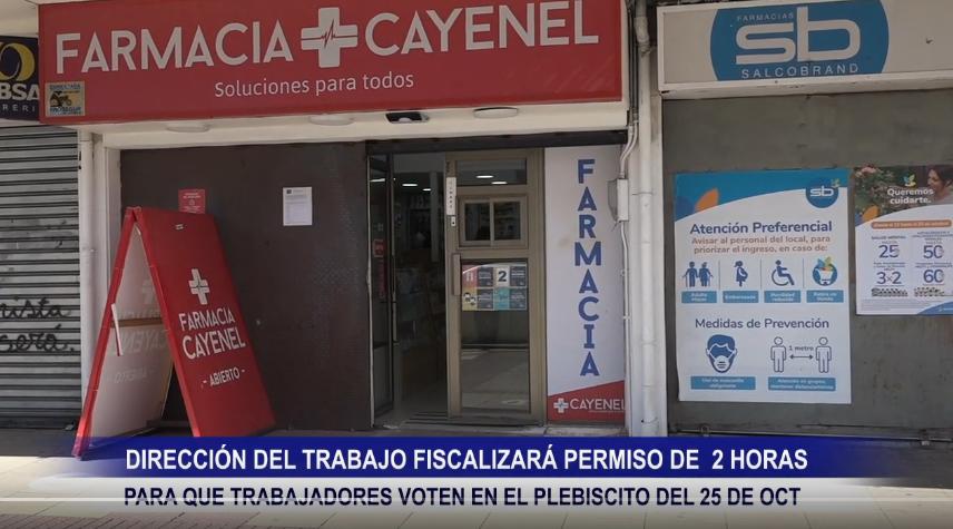 DIRECCIÓN DEL TRABAJO FISCALIZARÁ PERMISO DE 2 HORAS PARA QUE TRABAJADORES VOTEN EN EL PLEBISCITO