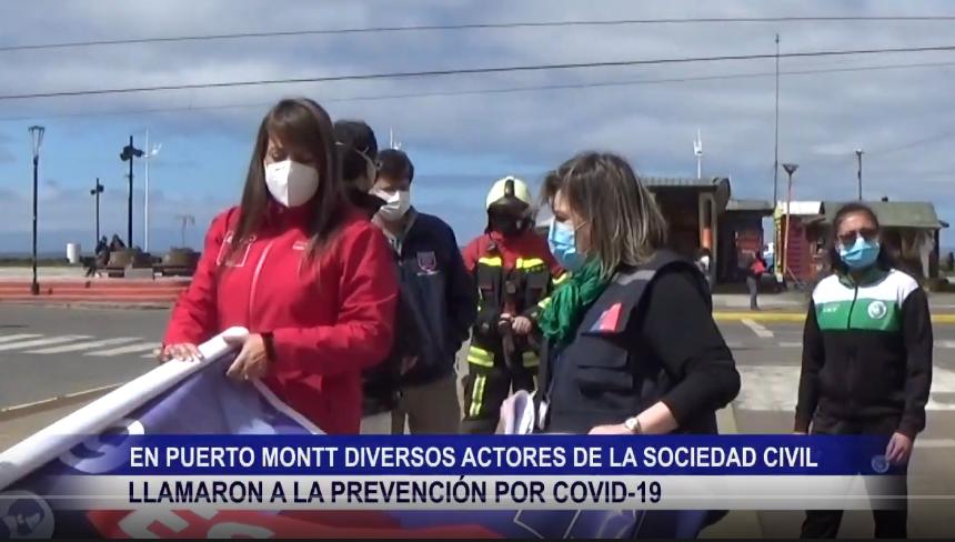 EN PUERTO MONTT DIVERSOS ACTORES DE LA SOCIEDAD CIVIL LLAMARON A LA PREVENCIÓN POR COVID 19