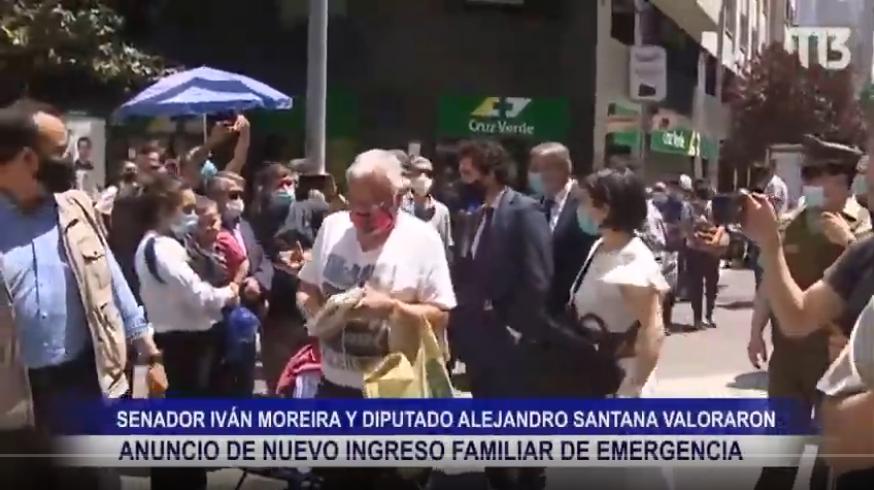 SENADOR MOREIRA Y DIPUTADO SANTANA VALORARON ANUNCIO DE NUEVO INGRESO FAMILIAR DE EMERGENCIAS